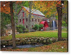 Fall Foliage At The Grist Mill Acrylic Print
