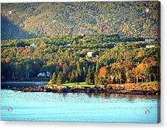 Acrylic Print featuring the photograph Fall Foliage In Bar Harbor by Bill Swartwout Fine Art Photography