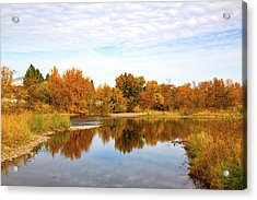 Acrylic Print featuring the photograph Fall In Emmett, Idaho by Dart and Suze Humeston