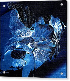 Fallen Leaves At Midnight Acrylic Print