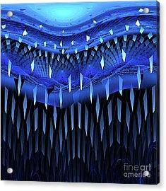 Falling Blue Acrylic Print