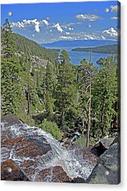 Acrylic Print featuring the photograph Falls Above Emerald Cove by Lynda Lehmann
