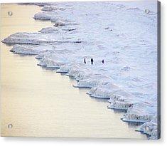 Family By Frozen Lake Acrylic Print