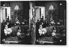 Family Scene Acrylic Print by London Stereoscopic Company