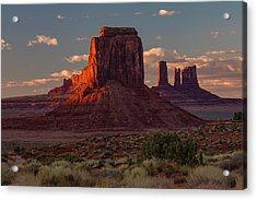 Famous Buttes Of Monument Valley Acrylic Print by Adam Jones