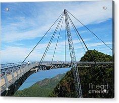 Famous Hanging Bridge Of Langkawi Acrylic Print