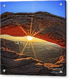 Famous Sunrise At Mesa Arch In Acrylic Print