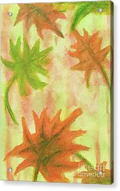 Fanciful Fall Leaves Acrylic Print