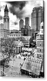 Faneuil Hall Marketplace Boston Acrylic Print