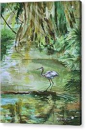 Far Harbor Heron Acrylic Print