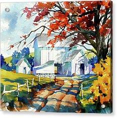 Farm Shadows Acrylic Print by Art Scholz