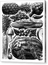 Farmer's Market - Bw Acrylic Print