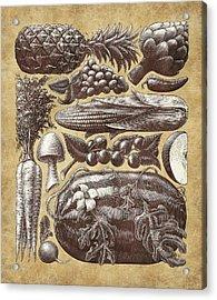 Farmer's Market - Sepia Acrylic Print