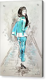 Fashion Girl Blue 2018 Acrylic Print