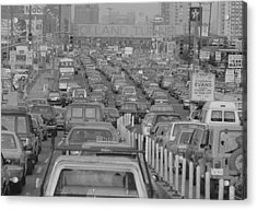 Fathers Day Traffic At The Holland Acrylic Print by New York Daily News Archive