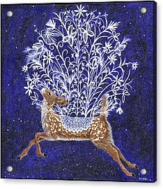 Fawn Bouquet Acrylic Print
