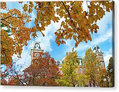 Fayetteville Arkansas Old Main Building In Fall Acrylic Print