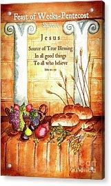 Feast Of Weeks - Pentecost Acrylic Print by Janis Lee Colon