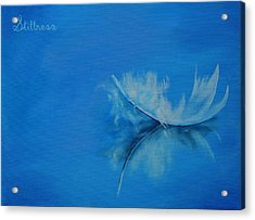 Feather Floating - Stillness Acrylic Print