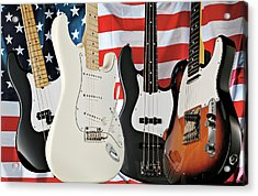 Fender 2008 American Standard Series Acrylic Print by Guitarist Magazine