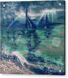 Feng Shui Your Life - Lucky Sailing Boat Acrylic Print by Remy Francis