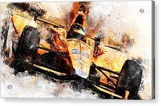 Fernando Alonso, Indy 500 - 04 Acrylic Print
