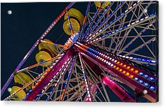 Ferris Wheel At Night Acrylic Print