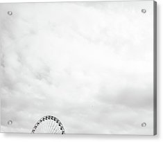 Acrylic Print featuring the photograph Ferris Wheel Clouds by Whitney Leigh Carlson