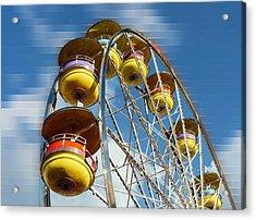 Ferris Wheel On Mosaic Blurred Background Acrylic Print