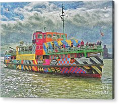 Acrylic Print featuring the photograph Ferry Across The Mersey by Leigh Kemp