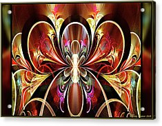 Acrylic Print featuring the digital art Festival by Missy Gainer