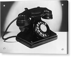 Fifties Telephone Acrylic Print by Fox Photos