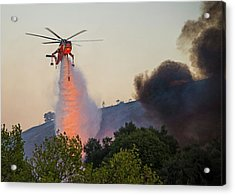 Acrylic Print featuring the photograph Fighting Fire With Fire by Lynn Bauer