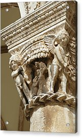 Figures On Capitals Of The Rector's Palace Acrylic Print