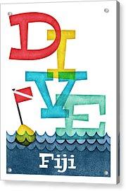 Fiji Dive - Colorful Scuba Acrylic Print
