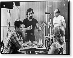 Filming Taxi Driver Acrylic Print by Fred W. McDarrah