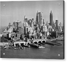 Financial District Cityscape Acrylic Print by Fpg