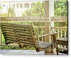 Find Perspective Quote Acrylic Print