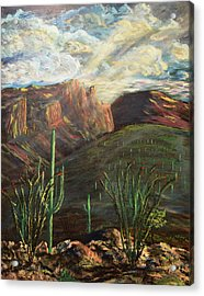 Finger Rock Morning Acrylic Print