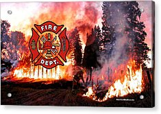 Fire Fighting 3 Acrylic Print