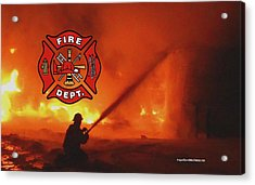 Fire Fighting 5 Acrylic Print