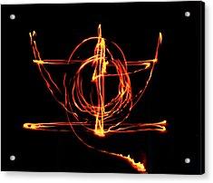 Fire Light Drawing Acrylic Print