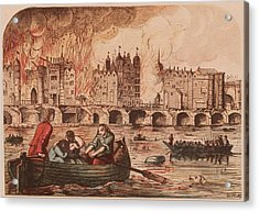 Fire Of London Acrylic Print by Hulton Archive