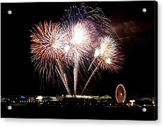 Fireworks In Chicago Acrylic Print by 400tmax