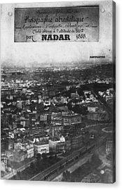 First Aerial Photo Acrylic Print by Nadar