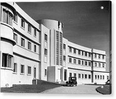 First Art Deco Hotel Acrylic Print by Herbert Felton