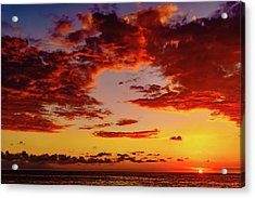 First November Sunset Acrylic Print