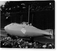 First Submarine Acrylic Print by London Stereoscopic Company