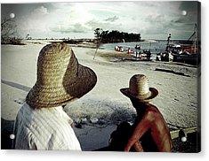 Fishermen In Ajuruteua, Brazil Acrylic Print by Ricardo Lima