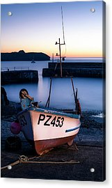 Fishing Boat In Mullion Cove Acrylic Print